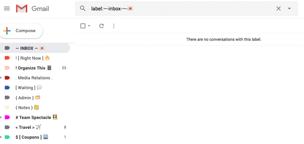 Screen Shot False Inbox Gmail