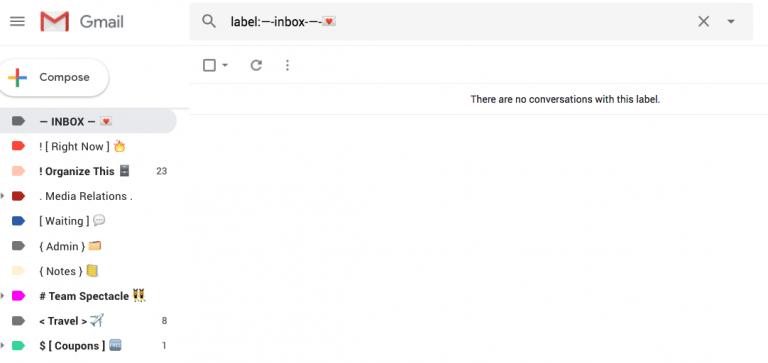 Screen Shot False Inbox Gmail
